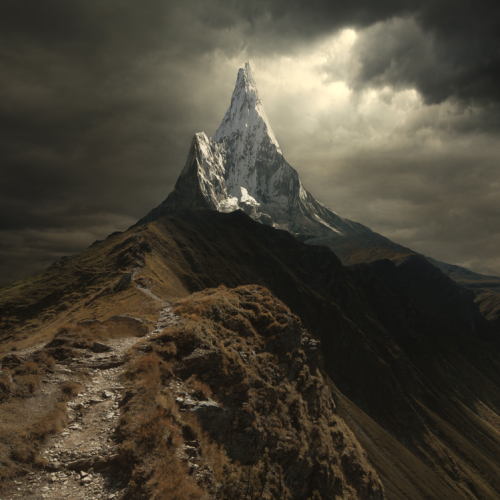 "photographyweek:   Above All by Michal Karcz View more of Michal's photography on his website. ""This picture contains three shots mixed together in Photoshop. This is I what do with my pictures, to create a fantasy version of the Earth. This picture contains photo of a mountain path in West Tatra Mountains and includes the clouds structures, and the main, high peak is Ama Dablam shot in Himalayas."" – Michal Karcz Image copyright Michal Karcz and used with permission.  See the world's most inspirational images every Thursday in Photography Week. Get five free issues today, risk-free, at http://bit.ly/RHzJmN"