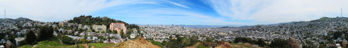 Here's a 375° panorama of SF that I took from Corona Height Park. Best viewed straight in your browser here: http://bit.ly/YWqXHL