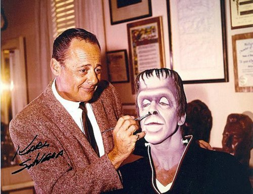 panicbeats:  Munster make-up man Karl Silvera doin' his thing. (1965)