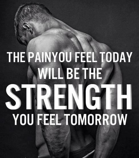 What workout are you doing?! the pain you feel today will intensify tomorrow to be become the strength you may or may not have later on in the week, if you recover right and work it out!