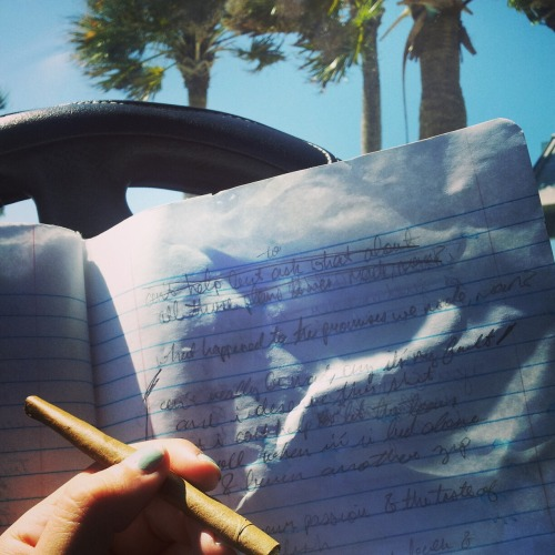 Blunts and the beach is the way to write