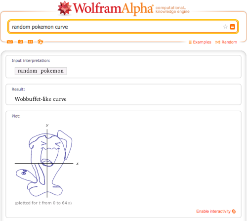 Random Pokemon Curve on wolframalpha