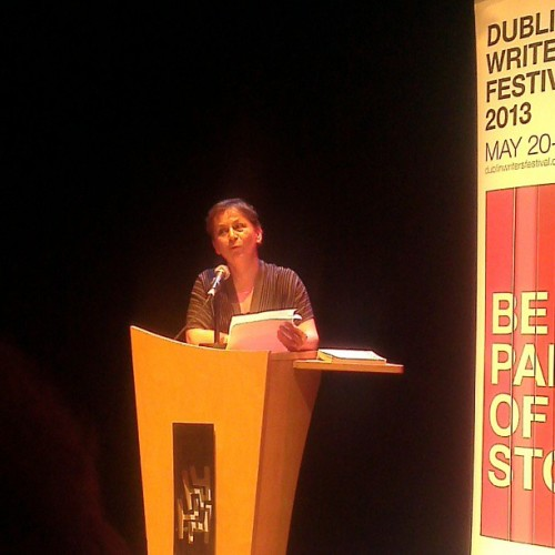 Anne Enright reading at @dublinwritersfestival #dwf2013