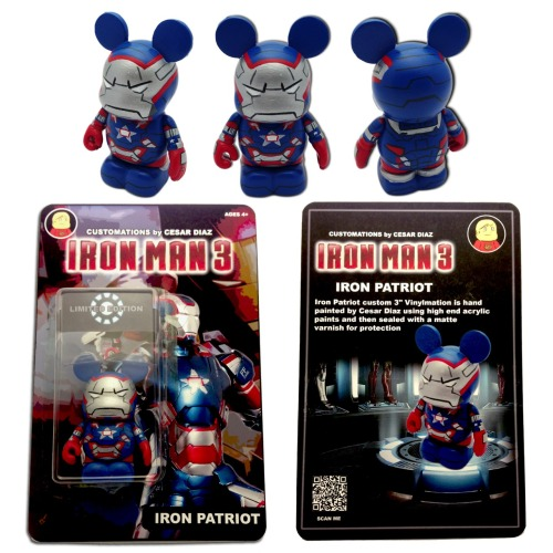 Iron Patriot custom carded Vinylmation. This piece has already been sold.