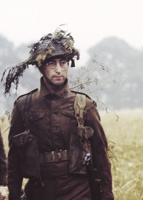 "John Lennon, on the set of ""How I Won The War"" in Spain (1966)"