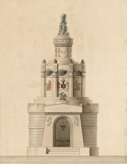 Lorenzo Santi (1783-1839): design for a sepulchre for the family of a count +