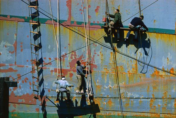 "theshinyboogie:  ""Maritime Mural"" (1960), by Fred Herzog"