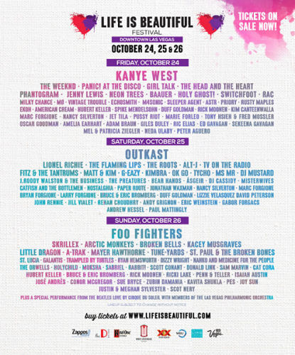 Win Free VIP Passes To The Life Is Beautiful Festival In Las Vegas