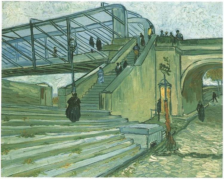 nevver:  The Trinquetaille Bridge, Vincent van Gogh