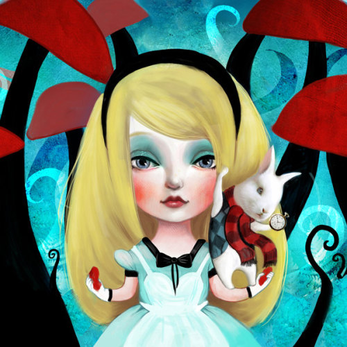 Alice In Wonderland, Fairytale Beauties series by Lisa Falzon. {print}
