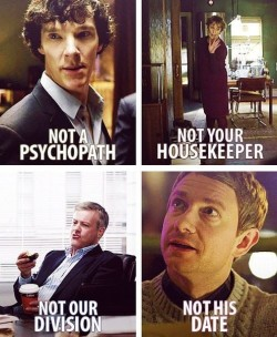 lifeinthenerdlane:  the cast of sherlock is in constant denial.