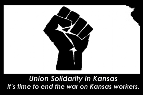 It's time to end the war on Kansas workers. We are standing in solidarity against the attacks in the Kansas Legislature. Join us. If you're a Kansan sign the petition, it will automatically email your State Rep, State Senator and Governor Brownback urging them to reject HB 2023 and SB 31.  If you're not a Kansan you can still help by helping us get the word out. Reblogs appreciated.