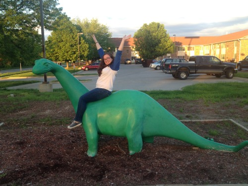 got lost in Iowa yesterday, but I found a dinosaur so it's cool.