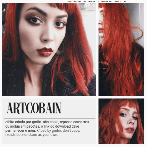 @ARTCOBAIN by gmfio ©dont':- copy,- redistribute,- claim as yours.Download: deviantArt (descriptions) #artcobain#red head#red#orange#aesthetic#vintage#pinup#red psd#red effect#photoshop#psd cololring#coloring#photoshop resources#yeahps#itsphotoshop#completeresources#gmfio#gmanfio