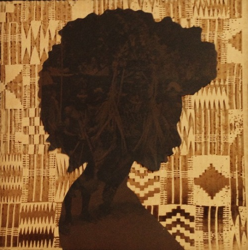 beautiffulcurls:   Jennelle Gordón  http://xjengox.tumblr.com/ Laser Etched Carboard, Blockwood Print inside Silhouette. Print Media. Art.   Follow and submit your photo BeauTIFFul Curls to be featured with some of the most beautiful naturals on Tumblr.
