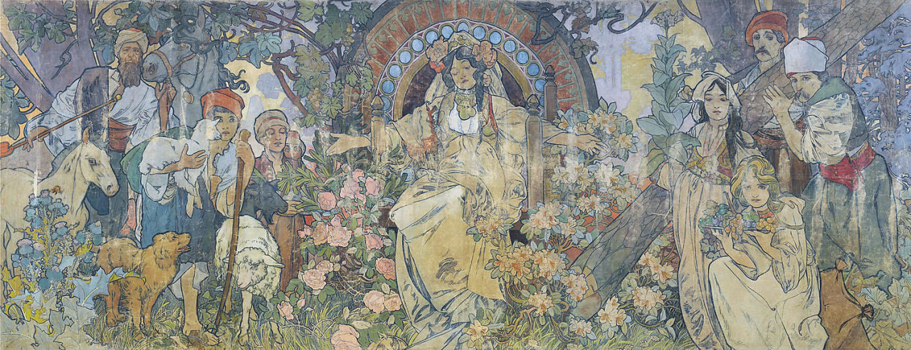neutralfool:  Bosnia and Herzegovina Pavilion (1900) - Alphonse Mucha