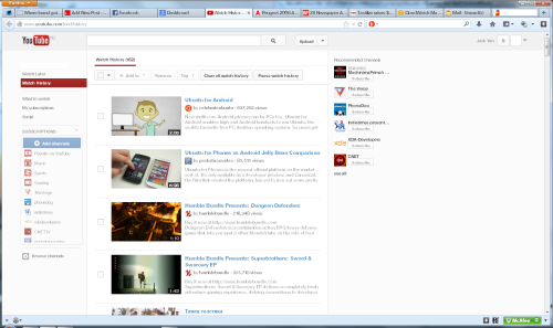 YouTube history, 2013 I remain absolutely astonished by YouTube's lack of privacy. I turned the history off on this site, and blocked the YouTube cookie. Yet it still claims I have watched certain videos. Some I do recognize but the top half-dozen, I have never seen. Not only should I not have a viewing history, the one that YouTube claims I have is total bollocks. But, it is Google, and privacy breaches, false accusations and inexplicable technical behaviour are par for the course at that company.