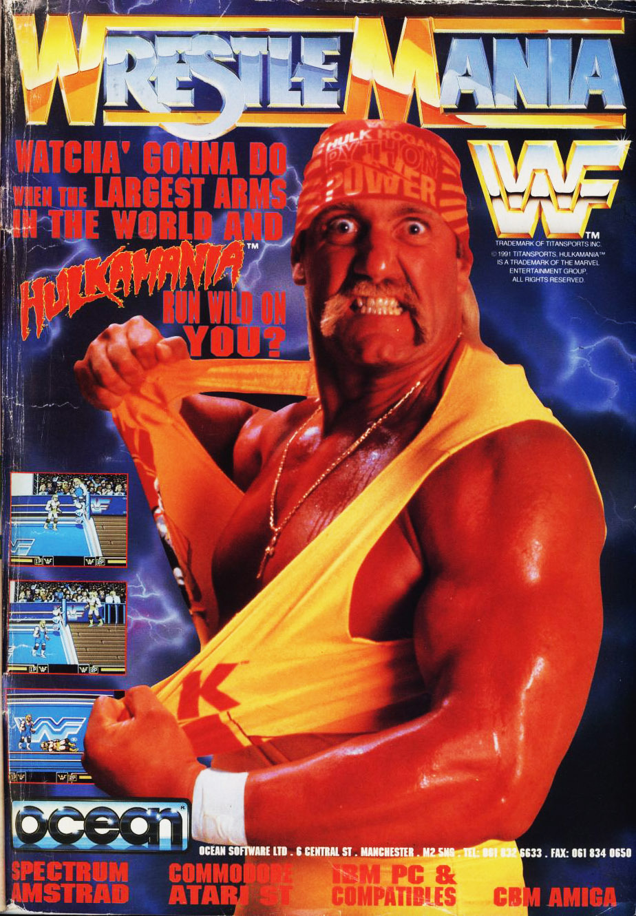 oldgamemags:  Hulk Hogan is PUMPED for you to play the WWF Wrestlemania game.