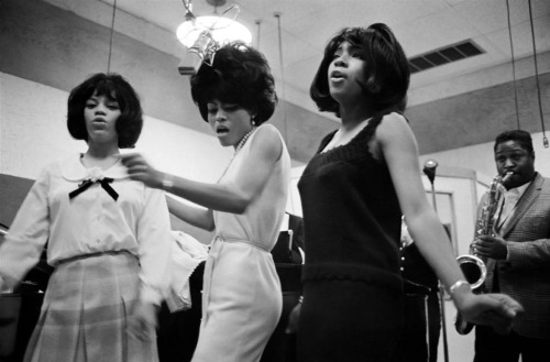 The Supremes at Motown Studios, 1965. Photographed by Bruce Davidson.