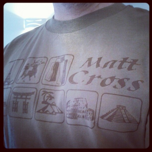 Wrestling Shirt Project day 37 featuring M-Dogg 20 Matt Cross #WSP http://instagr.am/p/VyT6EUlfHy/