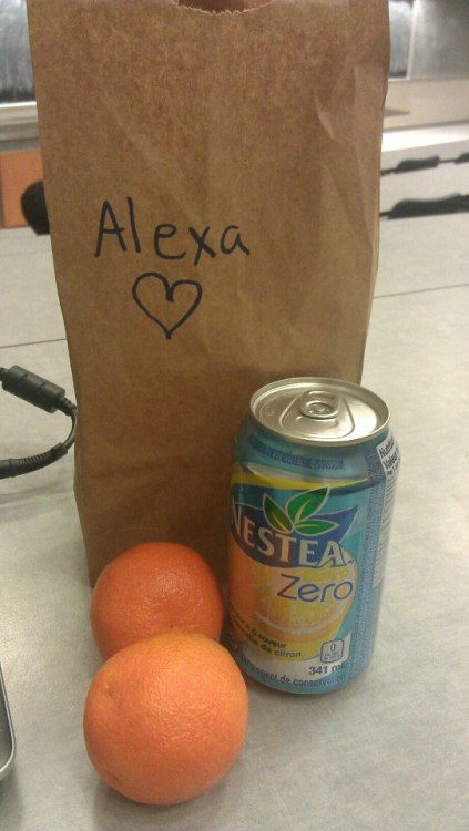 When my best friends brings me lunch to brighten up my 12 hour day