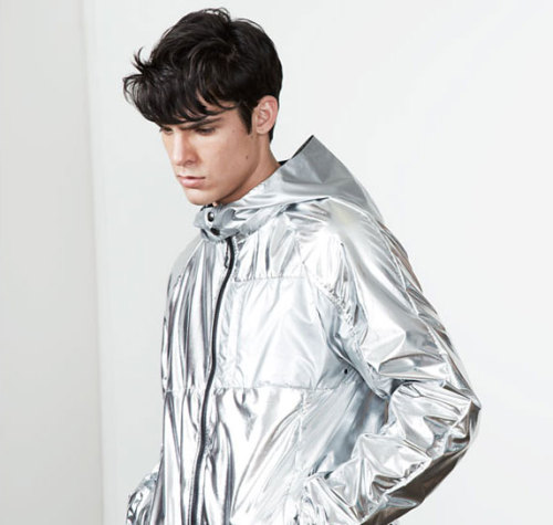 faderstyle:  LUIS FERNANDEZ OF NUMBER:LAB ON HIS SHINY TITANIUM JACKET:  The silver came from my obsession with silver-colored vintage racing Porches, marathon runners keeping warm and recovering their big feet in the foil blankets, the renderings of Zaha Hadid's metal skin for the stadium for the 2019 Rugby World cup. These images all conjured up an idea of speed and of lightness, in a way that was very appropriate as a reference point, to translate into how we dress and how our clothes can be enablers of great achievement.
