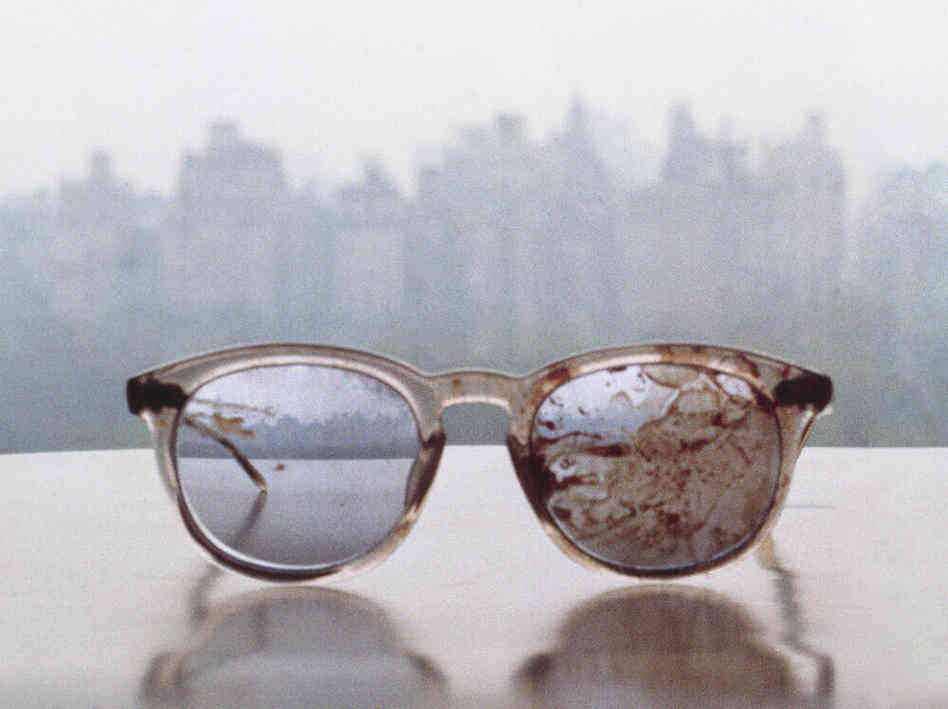 John Lennon's Bloodied Glasses Used In Plea On Gun Violence : The Two-Way : NPR