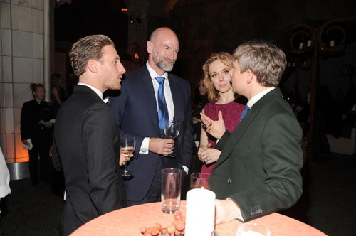 deanogorman-daily:  Dean, Graham, Martin Freeman & his wfie Amanda Abbington