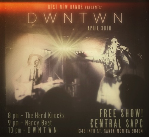 TONIGHT is the last show of our residency at The Central.  It's FREE! Let's do it big, bring all your friends, and let's get wavy!