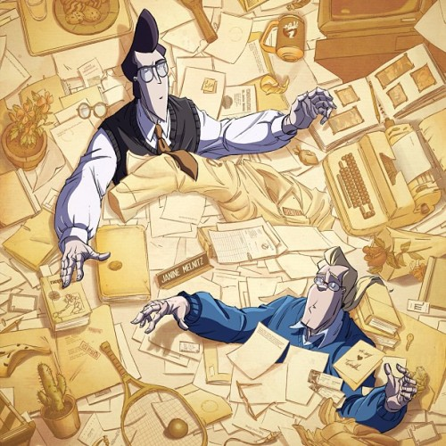 erikburnham:  dapperpomade:  Detail for the cover to the New Ghostbusters #6! The Ghost ship cover will now be issue #7's cover.  In the mind of Melnitz!