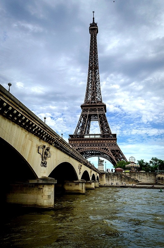| ♕ |  Eiffel over the Seine  | by © PlotzPhoto