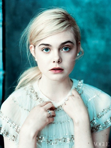 Elle Fanning featured in Vogue March 2013.