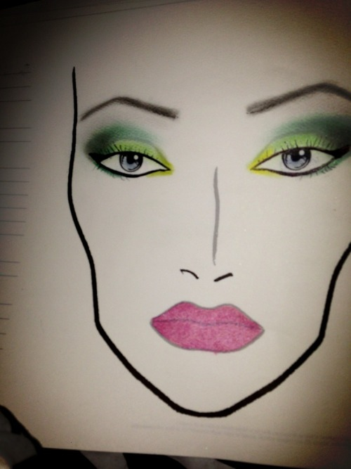 natjonez:  First face chart I've done in two years. Still have a lot more to work on but I'm finally feeling motivated again.