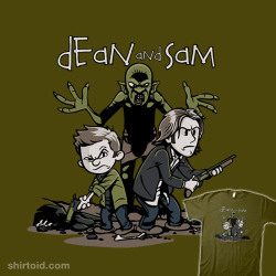 shirtoid:  Dean and Sam by David Johnston is $11 today only (5/17) at TeeFury