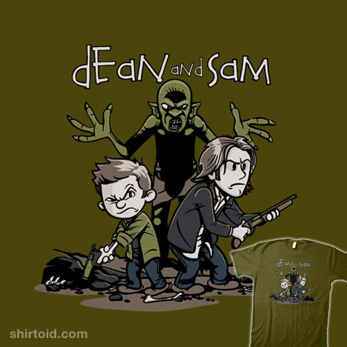 Dean and Sam by David Johnston is available at Redbubble