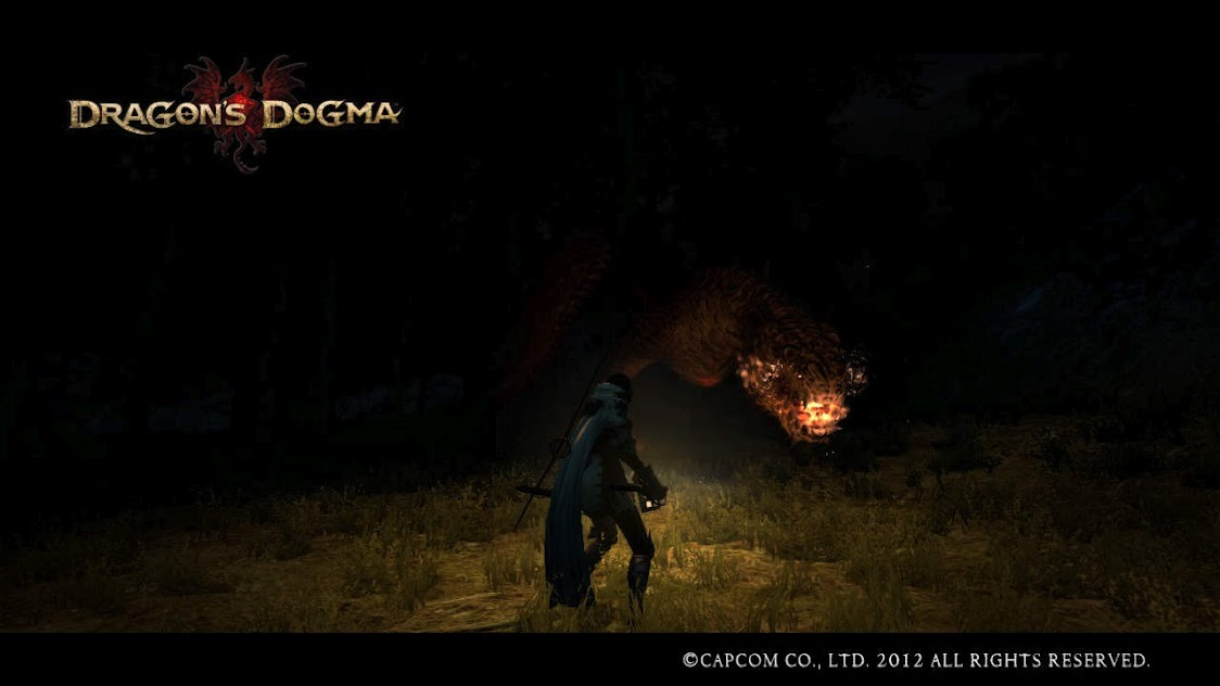 Ah I remember this, just walking around the forest at night, then this big flaming maw came out of the darkness… Fun times…