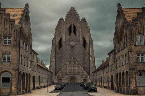 Grundvig Memorial Church Copenhagen - Symmetry in Photography