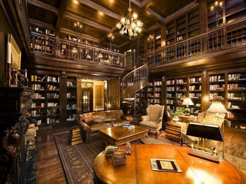 Library, Ellison Bay, Wisconsin photo via hgtv