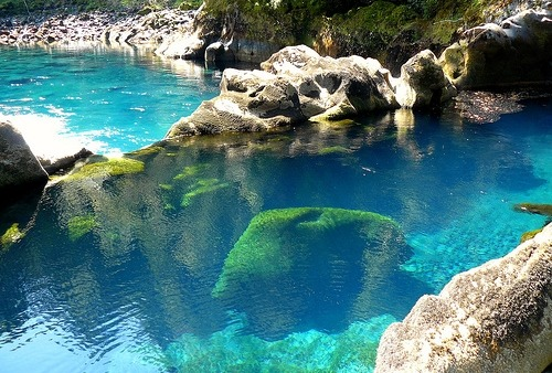 Turquoise Pool, Chile photo via seababe