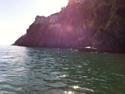 #Swimming in #Amalfi