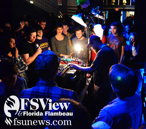Dan Deacon performed in front of a sold out crowd at Club Downunder in the student union Dec. 7, 2012.