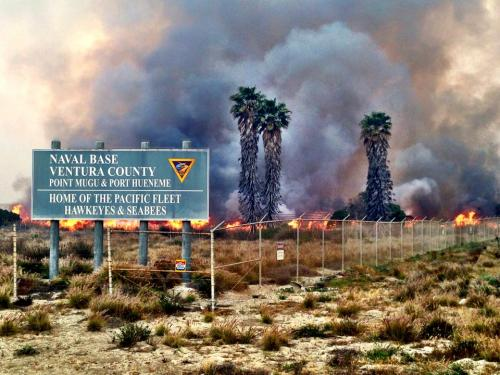 Southern California wildfire spreads to Naval Base Ventura County Photo: NBC's Ayman Mohyeldin