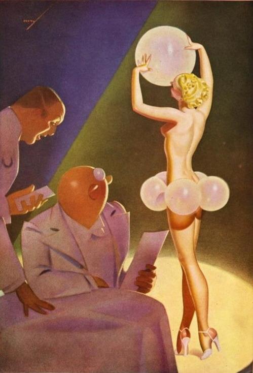 hoodoothatvoodoo: 'ESQUIRE' magazine illustration..    Art by George Petty
