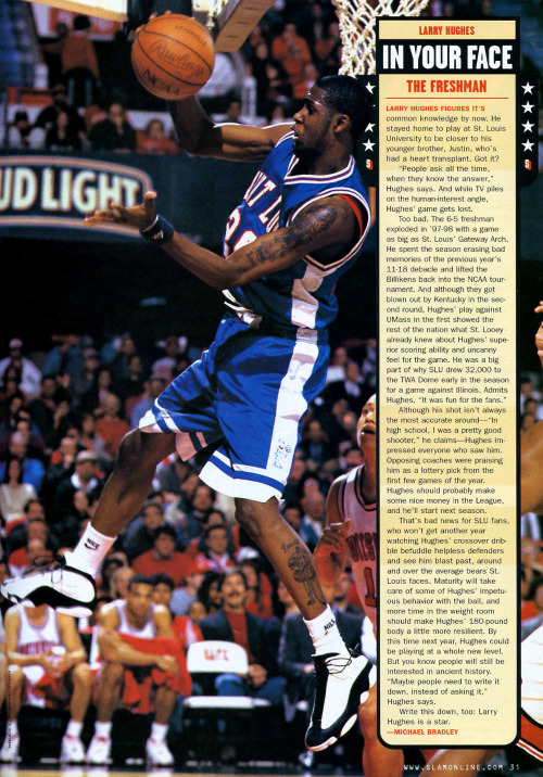 Larry Hughes in the Air Jordan XIII Scanned from SLAM Magazine