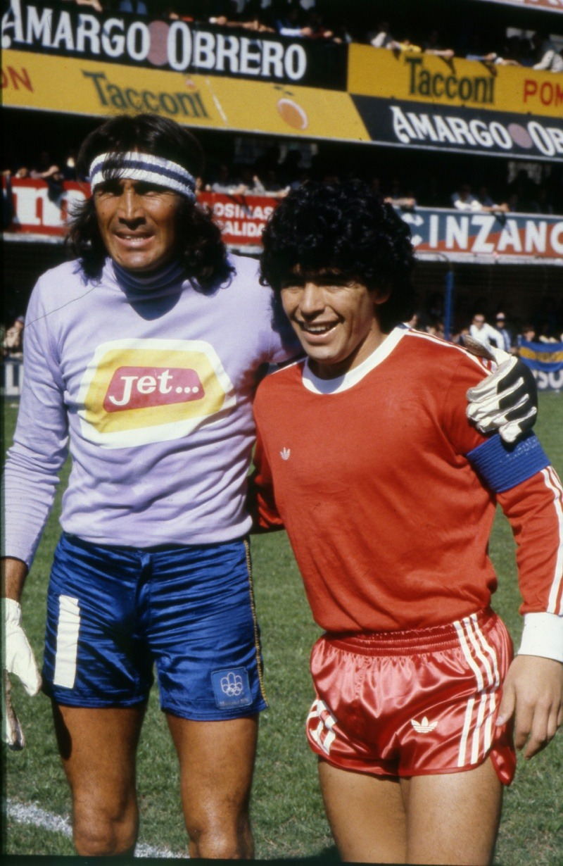 Diego Maradona circa 1980, during his time with Argentino Juniors.