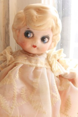 Antique bisque kewpie doll flapper ~ La