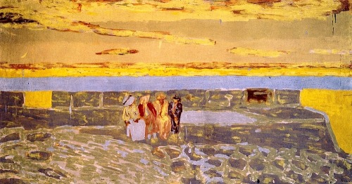 bofransson:  Twilight at Le Pouliguen Edouard Vuillard - 1908  WOW, almost like Rothko!!!