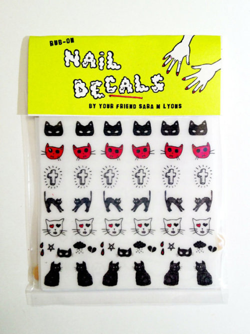 calivintage:  (via CATS & CROSSES nail decals by saramlyons on Etsy)