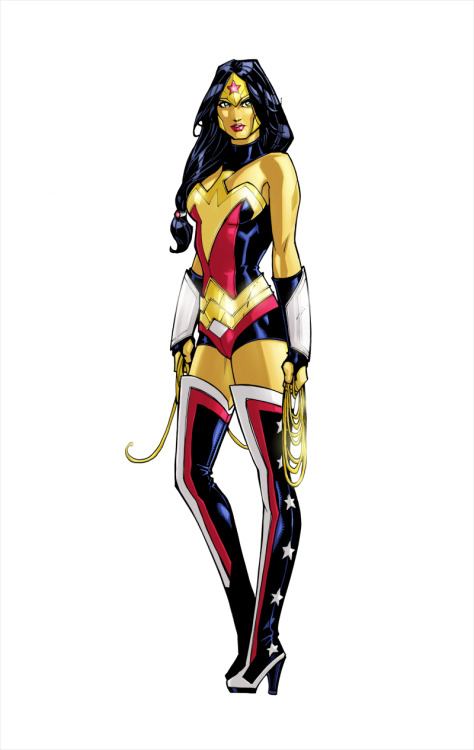dcdatabase:  Wonder Woman Colors Art by Oliver Nome