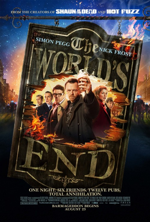 popculturebrain:  Poster: 'The World's End' | Film Thrasher  Stoked. Blood and Ice Cream Trilogy!
